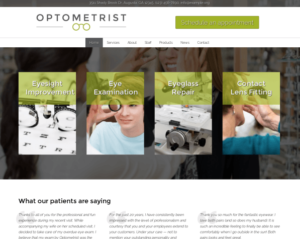 Eye Care Professional Web Design