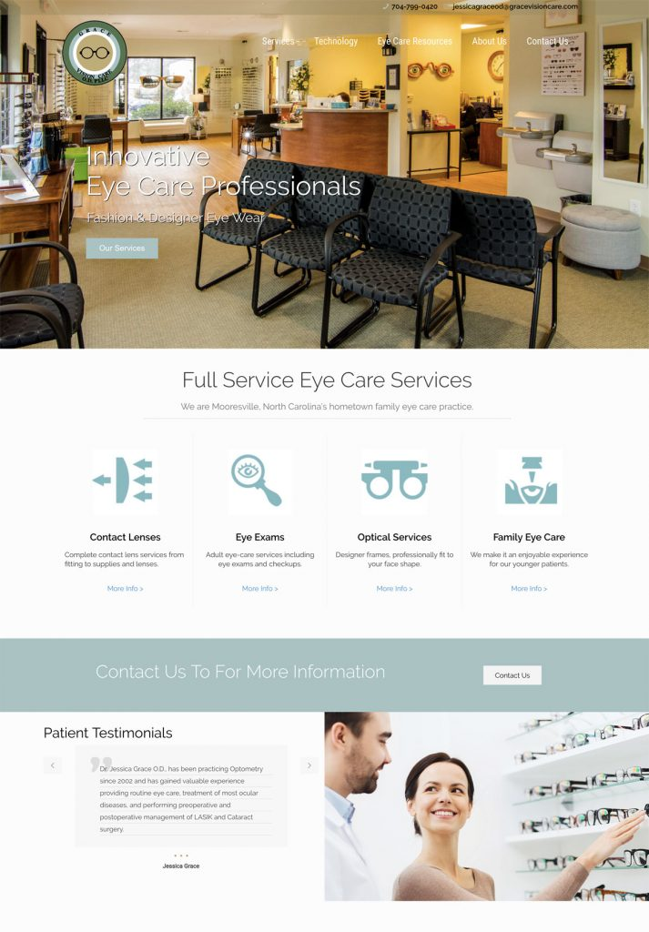 Grace Vision Care Optometry Web Design