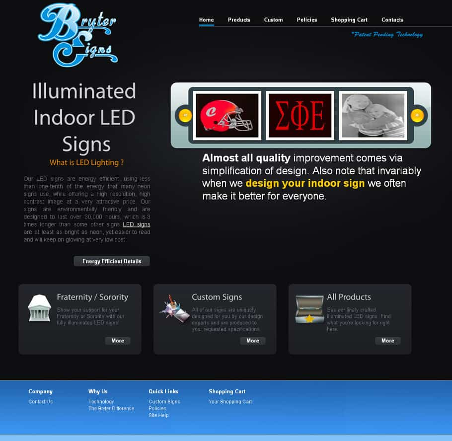 sign company web design