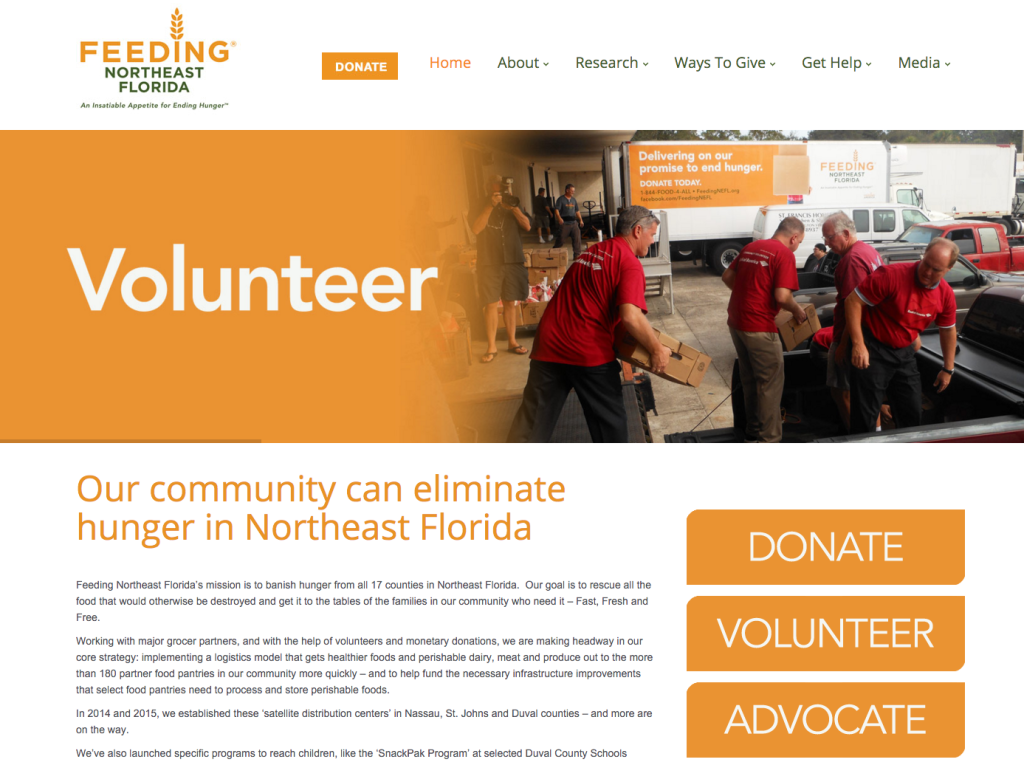get attention nonprofit website design elements