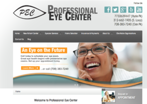 eye center web design