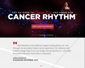 cancer life coach website design