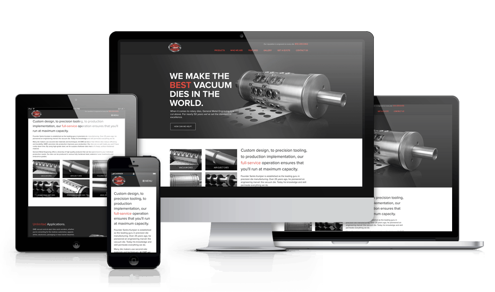 responsive manufacturing website design