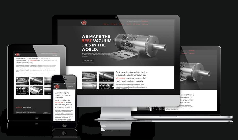 responsive manufacturing website design