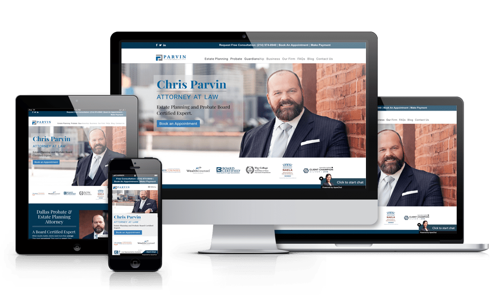 responsive law firm website design