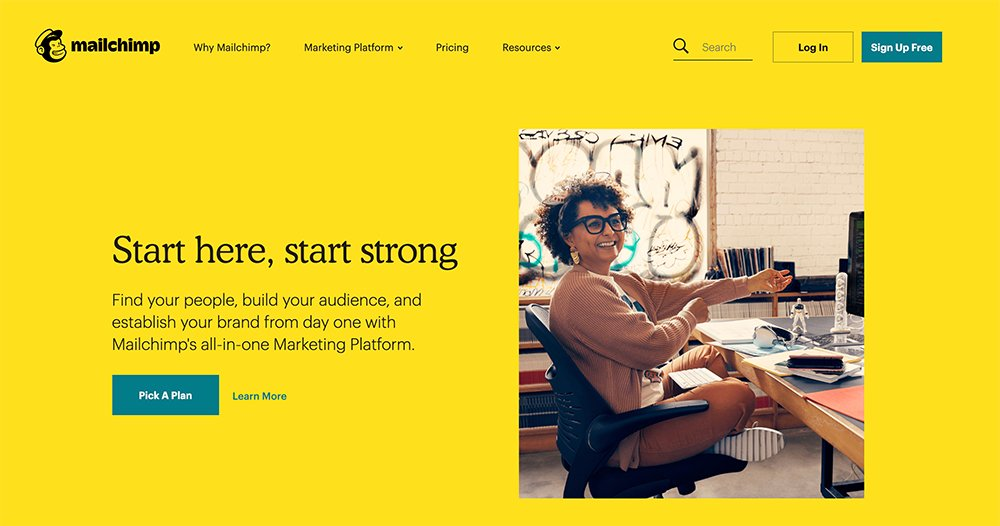 b2b website mailchimp